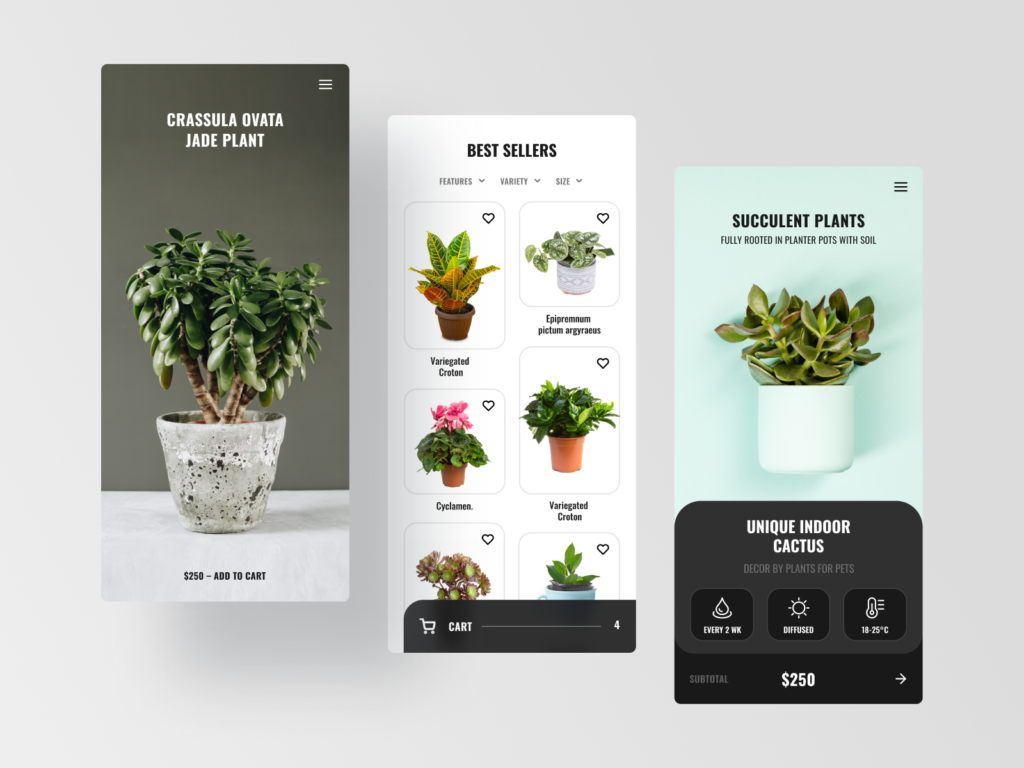 gardening app marketplace development