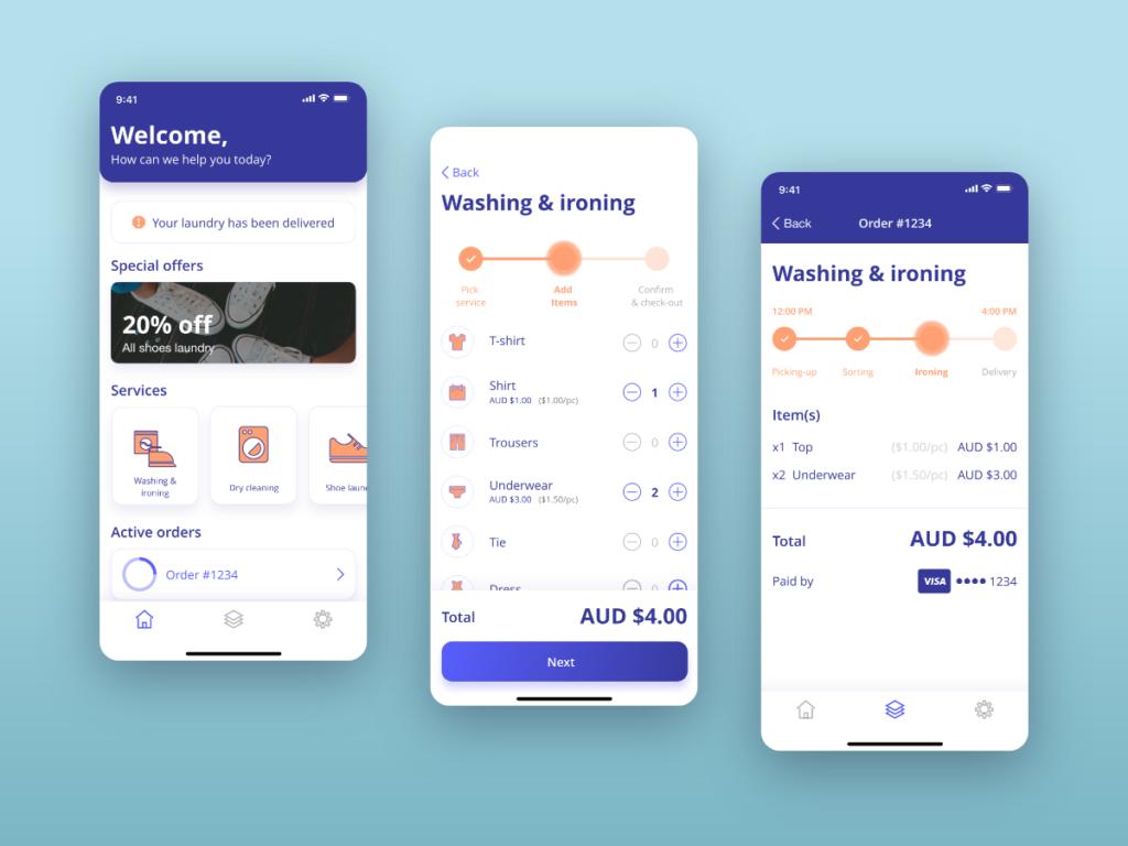 laundry apps development