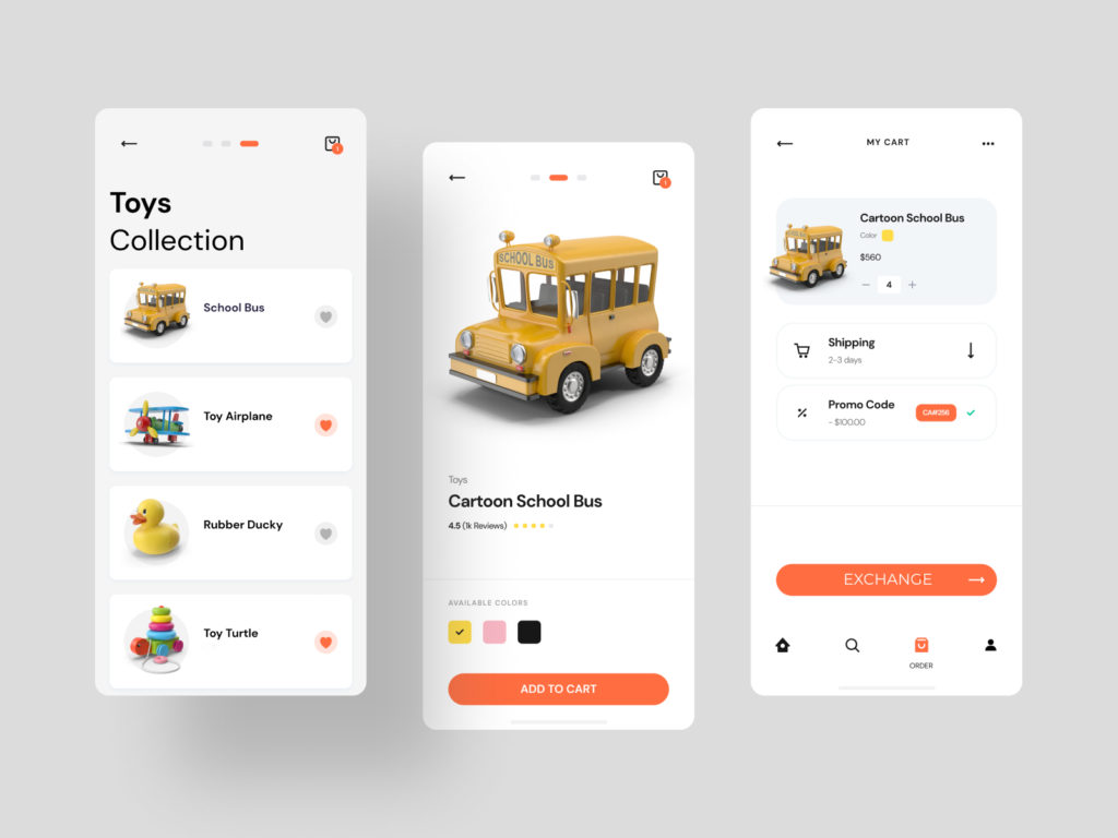 toy exchange app development